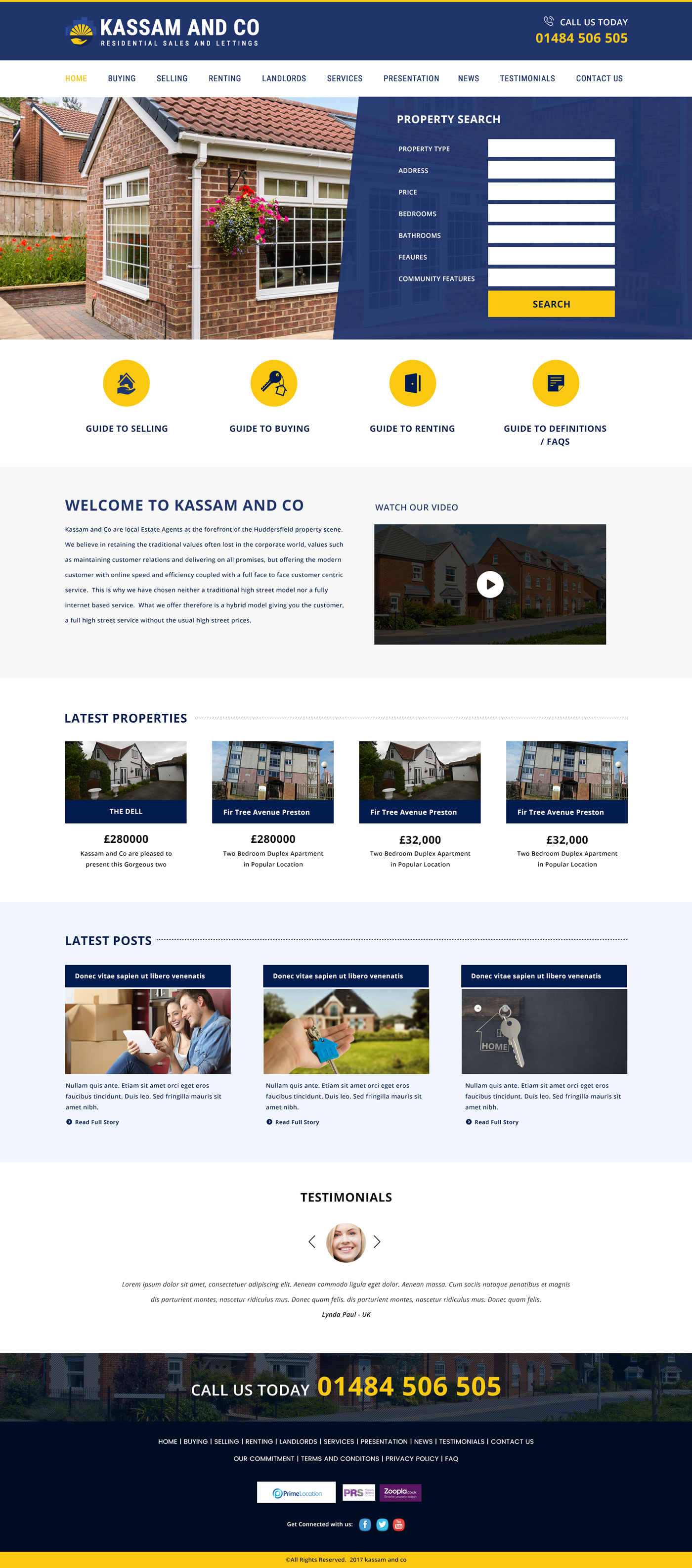 Property website design, rental website design, property sales website design