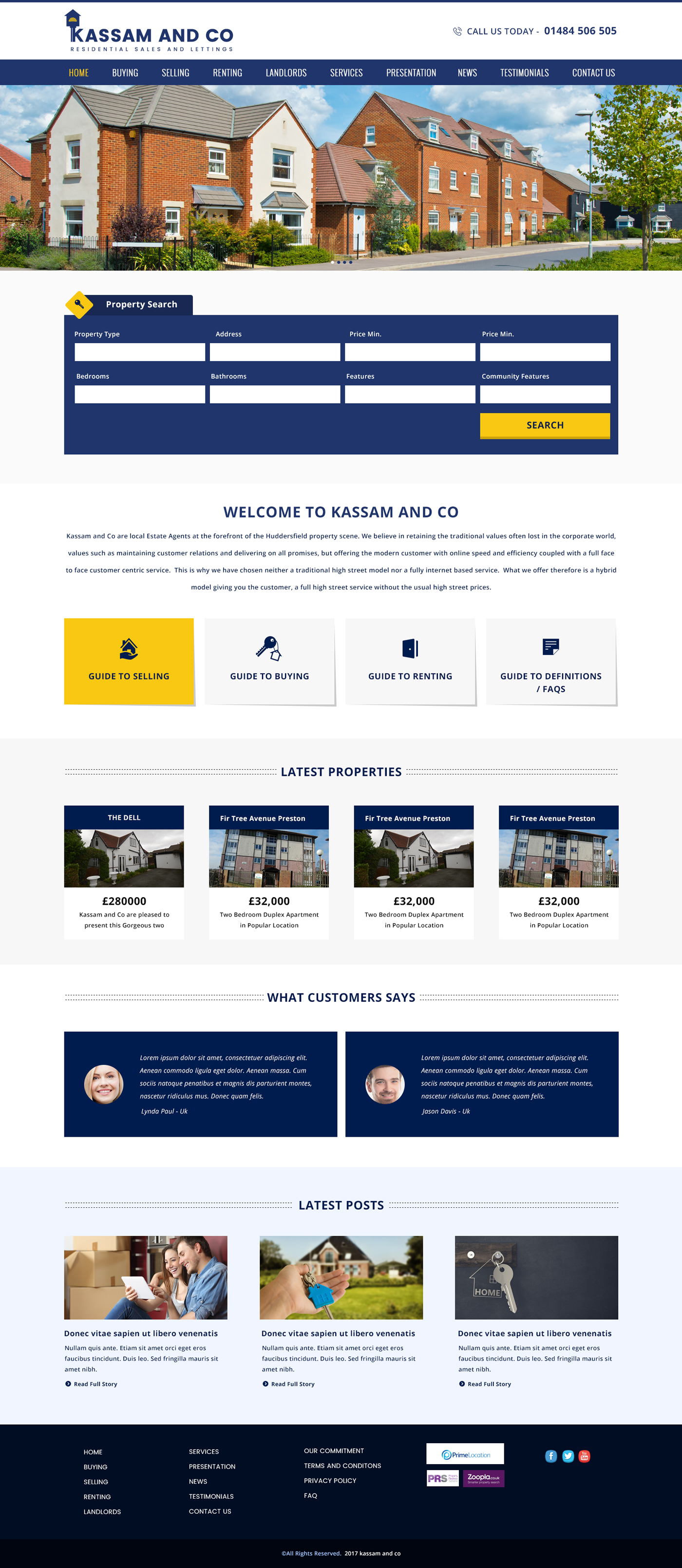 Kassam & Co Property, Property Website Design, Property Web Design